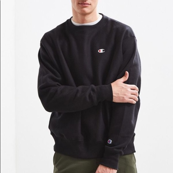 48a84b5e Urban Outfitters Sweaters | Champion Reverse Weave Fleece Crew Neck ...